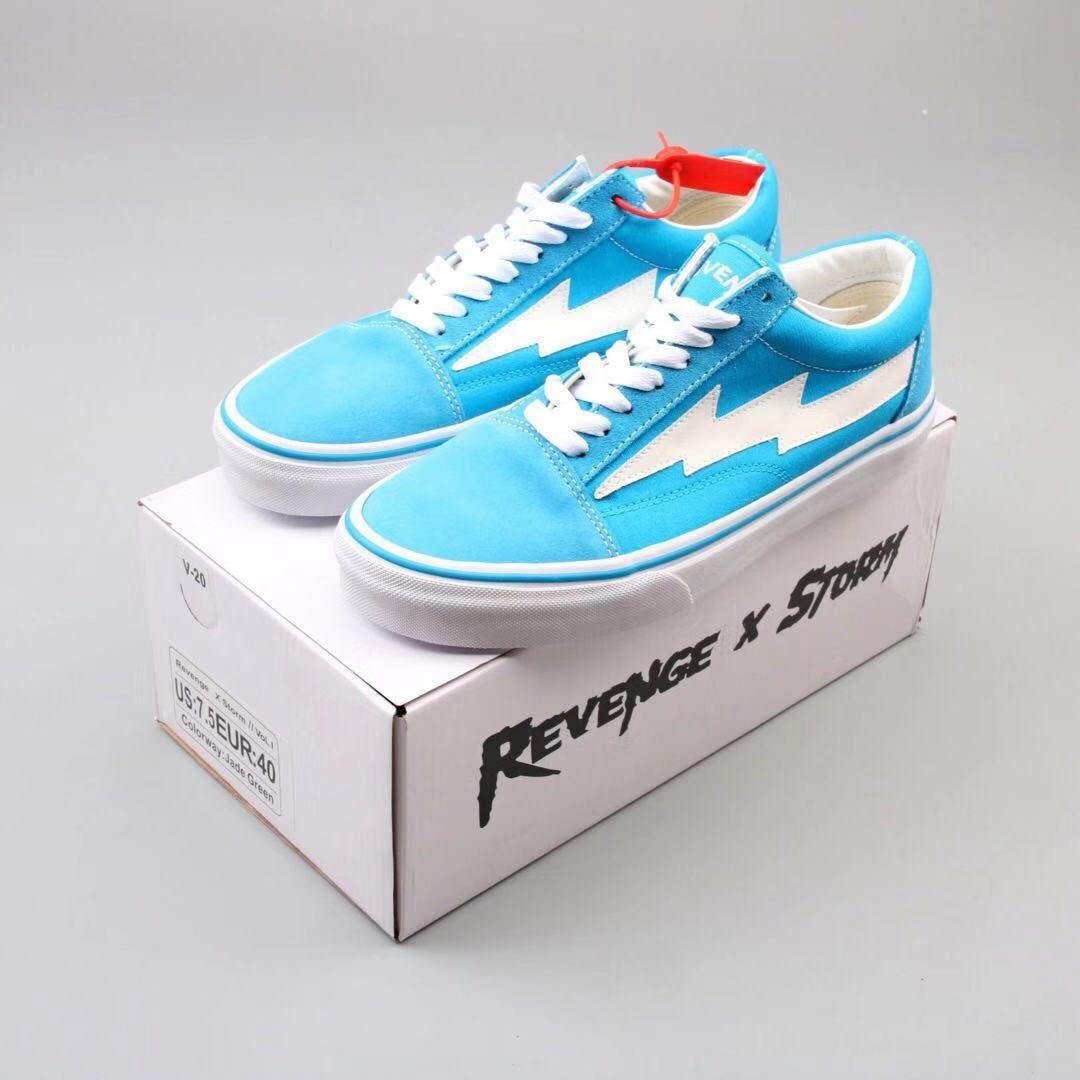 Revenge X Storm Bolt Blue Fresh Shoes Sneakers Fashion Sneaker Head