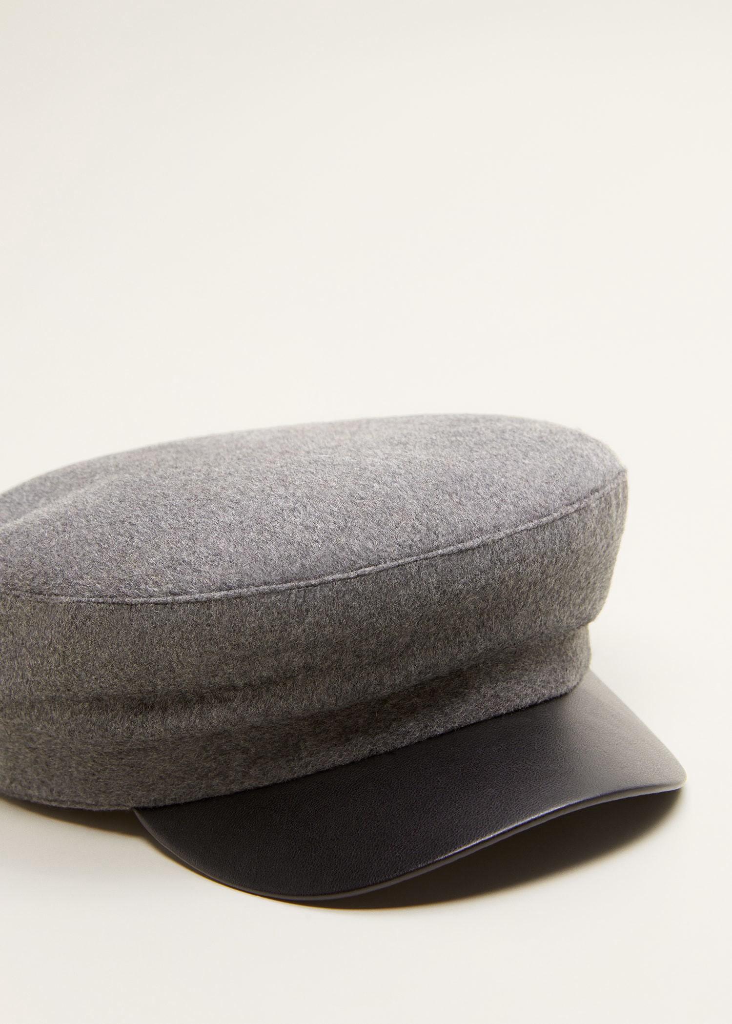 6931b7f5675 Mango Baker Boy Hat - Medium Heather Grey One Size