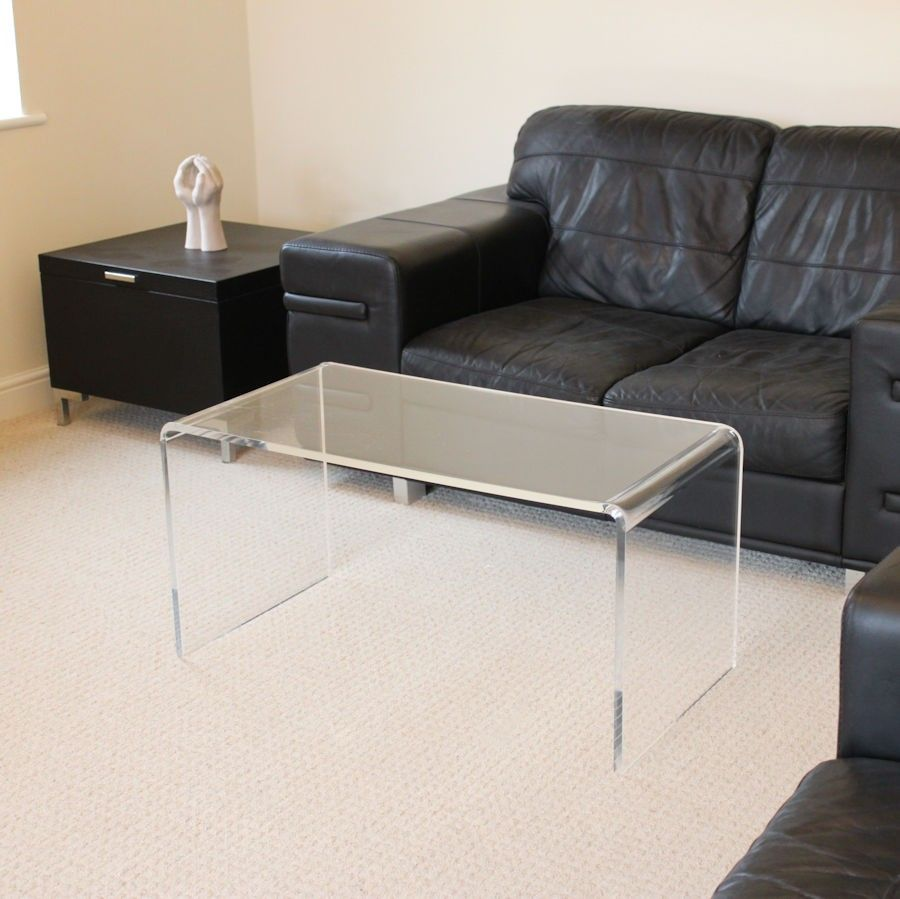 Clear Acrylic Plastic Coffee Table
