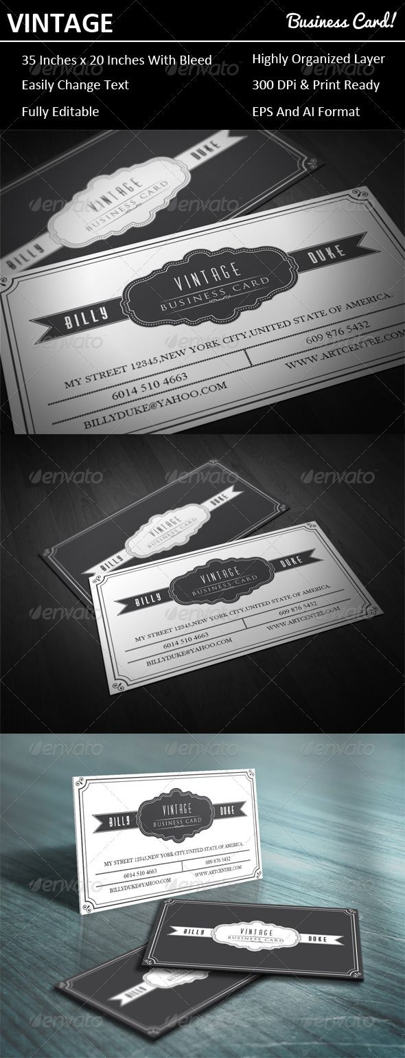 Vintage Business Card | Pinterest | Business cards, Business and Logos