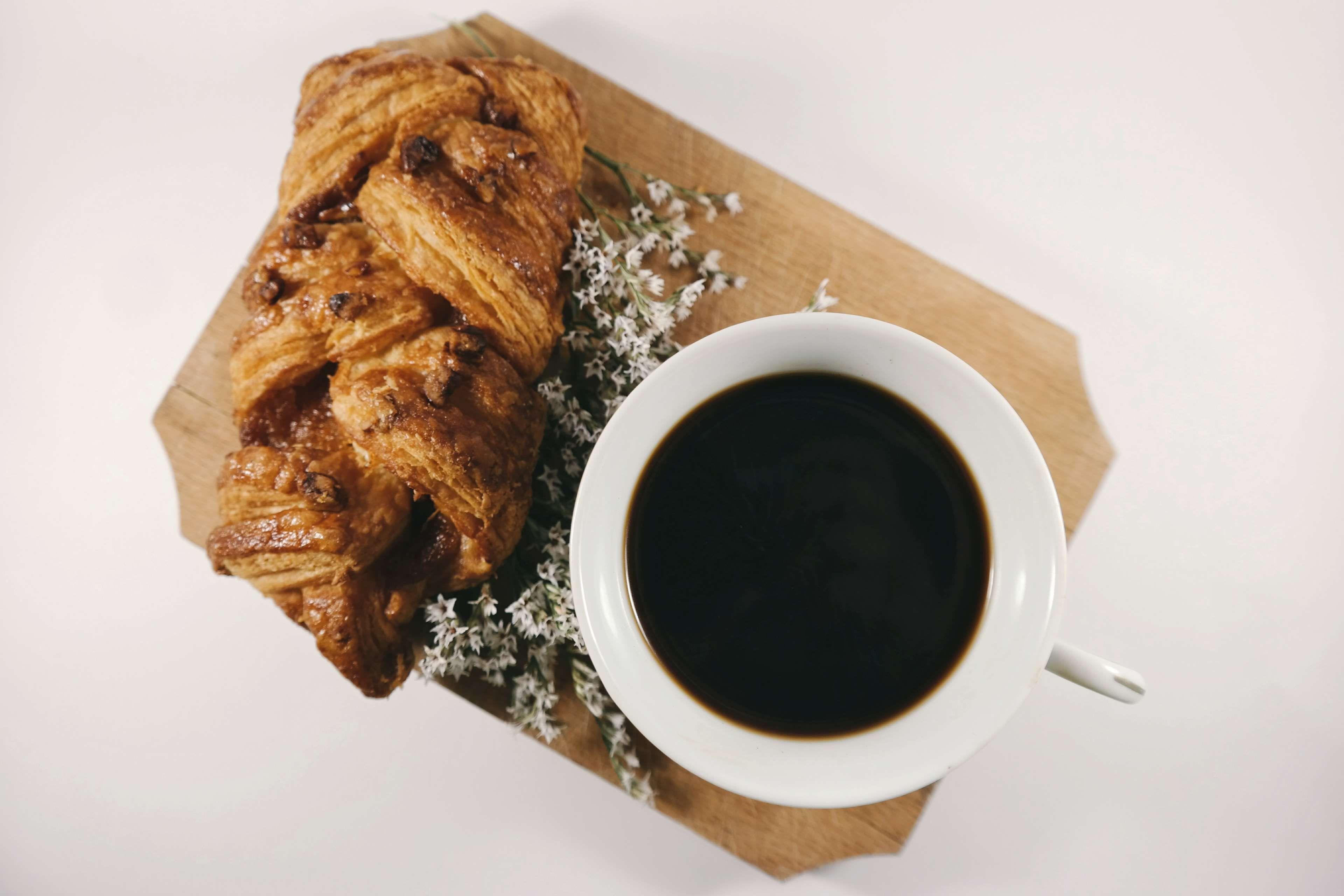 #black coffee #bread #breakfast #caffeine #coffee #coffee drink #coffee mug #cup #cup of coffee #dark #delicious #flowers #food #mug #table #wood #wooden