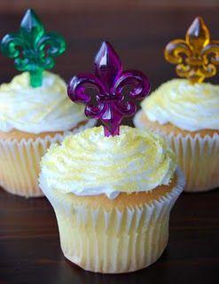 Mardi Gras Cupcake Toppers Fleur De Lis Pinterest Mardi Gras