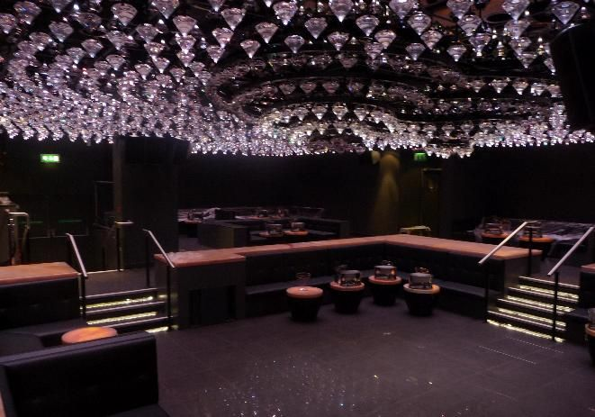 Cosmic Electronics LED crystal ceiling at Jalouse London club with sound  and lighting installationCosmic Electronics LED crystal ceiling at Jalouse London club with  . Nightclub Lighting Design Installation. Home Design Ideas