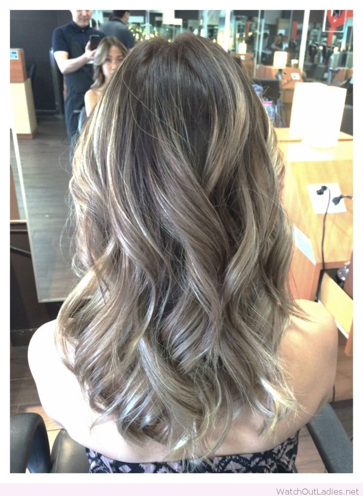 Ombre ash brown with balayage ash blonde hair for Ombre hair haarfarbe