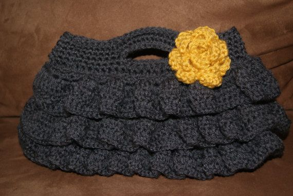 Oversized Clutch Crocheted Bag
