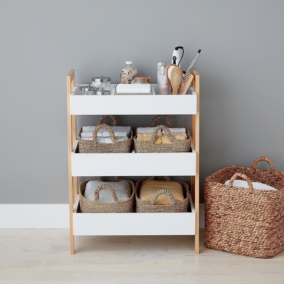 White Multi Purpose 3 Tier Shelf With Images Bathroom Storage