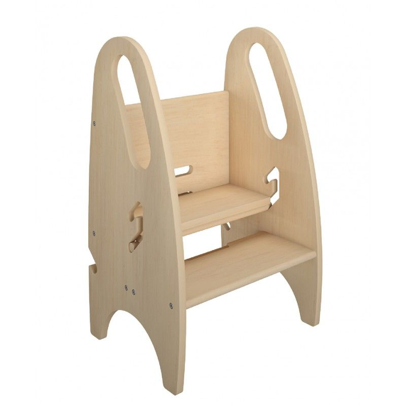 The Growing Step Stool By Little Partners Natural Adjule Height Nursery Kitchen Or Bathroom Kids Footstool Wooden Non Tip Design For Both