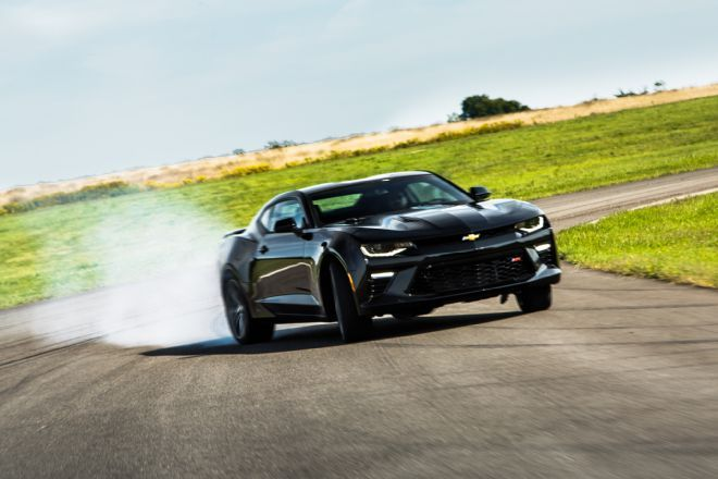 Getting tough at the track with the smaller, lighter, and better 2016 Chevrolet Camaro SS.