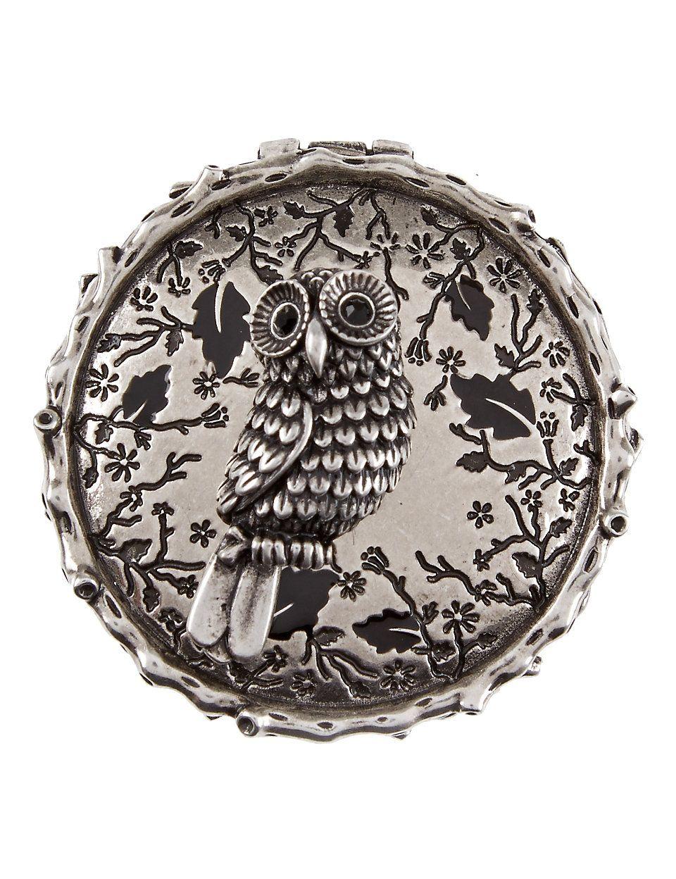 Winter owl trinket box...