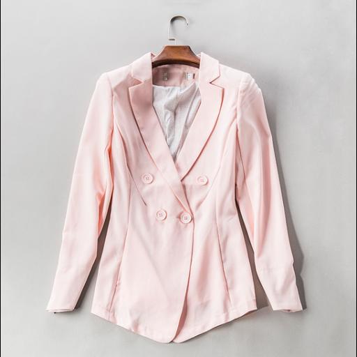 جاكيت رسمي نسائي ياباني وردي Formal Jacket Women S Blazer Fashion