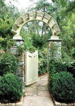 Garden Gate And Arbor Garden Gates And Fencing Garden Entrance