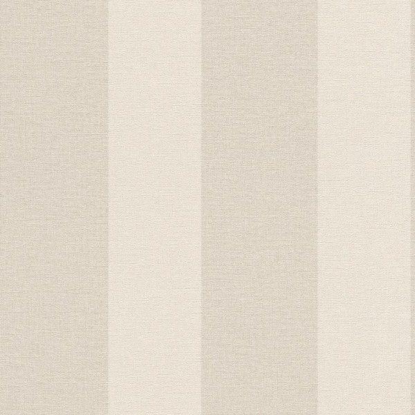 Carta da parati a righe shabby chic beige e tortora in for Carta da parati stile provenzale