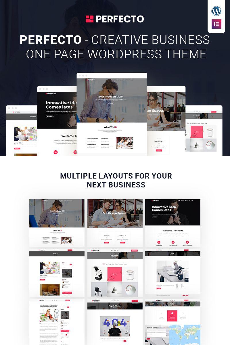 Perfecto Business One Page WordPress Theme