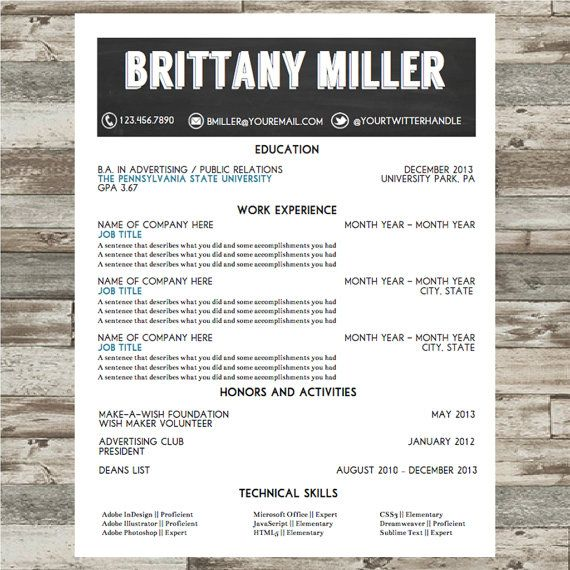 Resume Template Microsoft Word Instant By Sophisticatedresumes