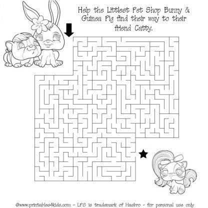 Printable Littlest Pet Shop Maze Printables For Kids Free Word Search Puzzles Coloring