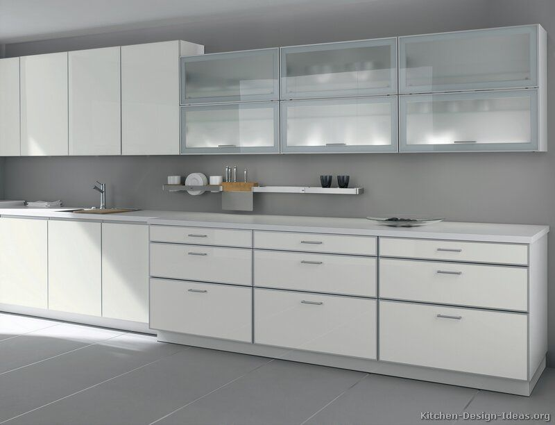 Pictures Of Kitchens Modern White Kitchen Cabinets Page 2 White Modern Kitchen Glass Kitchen Cabinets Glass Kitchen Cabinet Doors