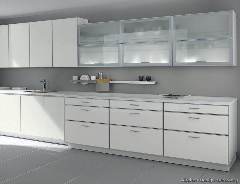 Glass Kitchen Cabinets Modern