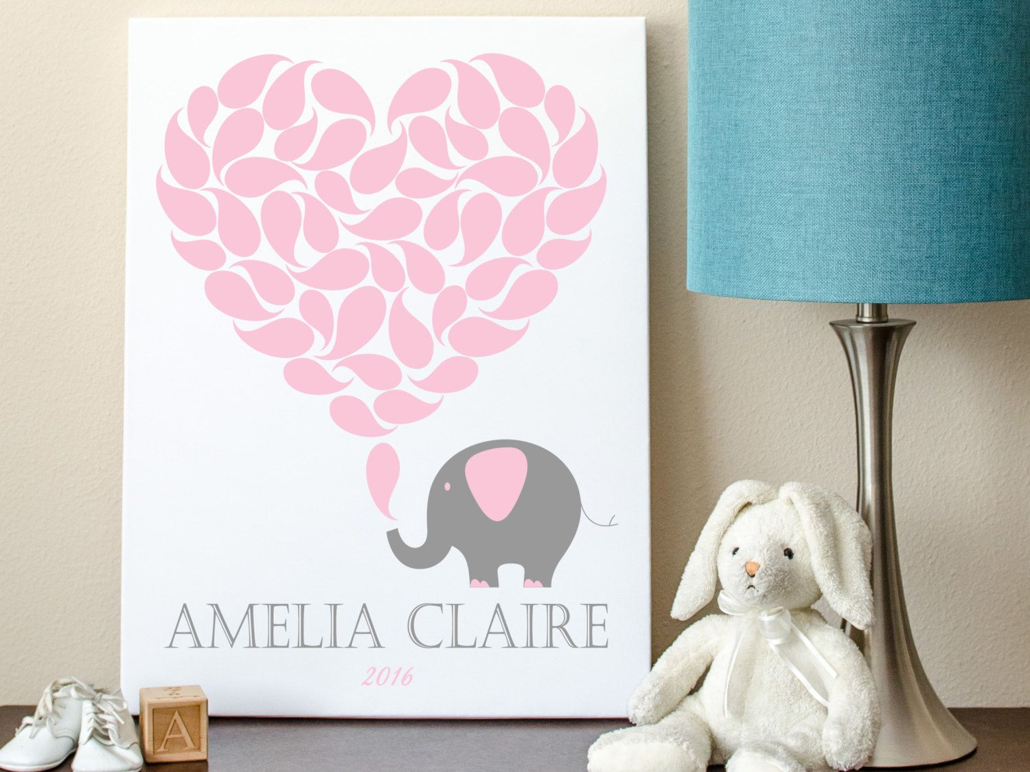 Elephant Guest Book Alternative, Baby Shower Guest Sign In, Elephant  Guestbook Alternative 8x10   50 Signature Shapes
