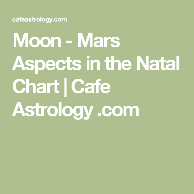 Moon - Mars Aspects in the Natal Chart | Cafe Astrology  com