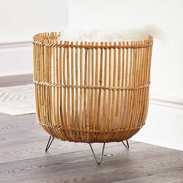 Palos Basket On Stand Reviews Crate And Barrel Basket And Crate Crate And Barrel Basket