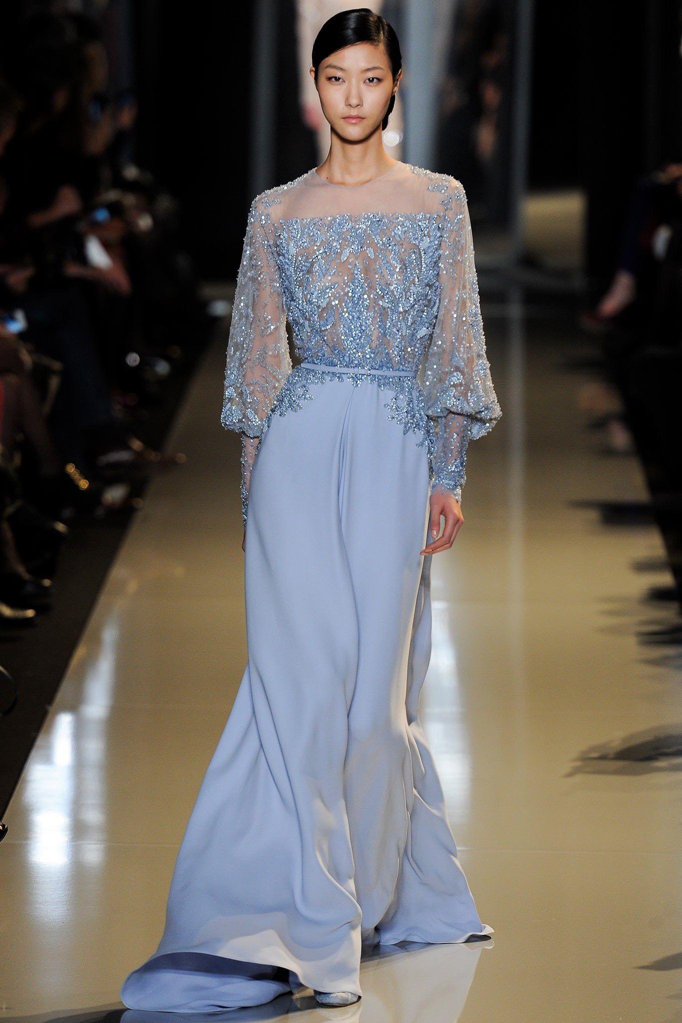 Elie Saab Spring 2013 Couture Fashion Show - Ji Hye Park (Elite)