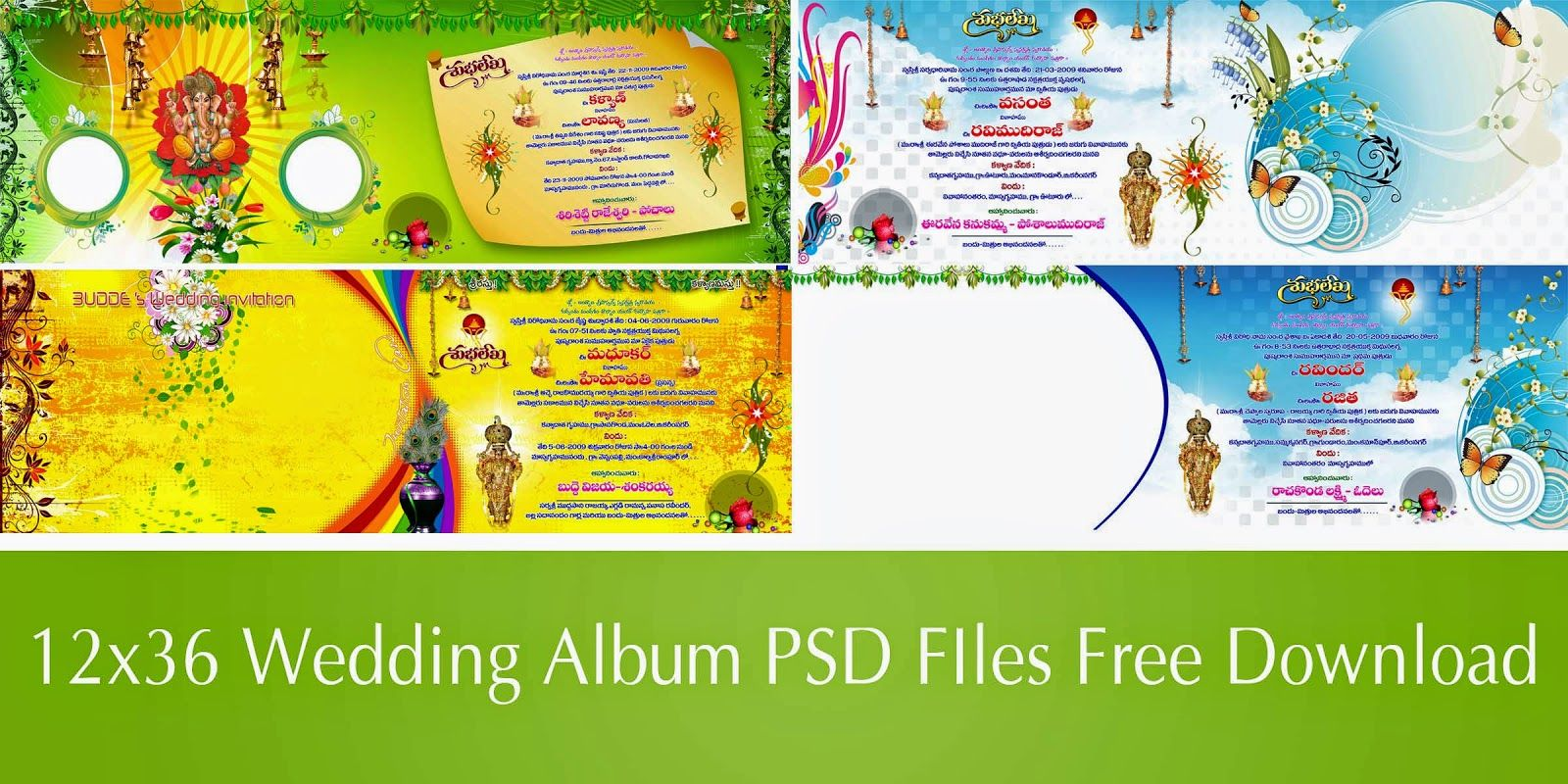 Digital banner design for psd files - Naveengfx Com 12x36 Album Psd Files Free Download