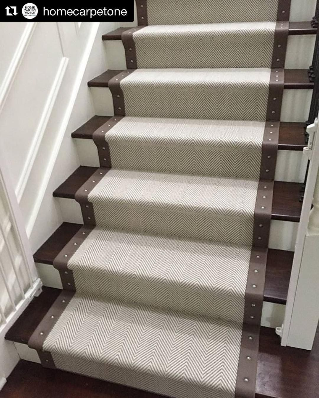 Beautiful Stair Runner Made With Kane In Stock Peter Island Carpet