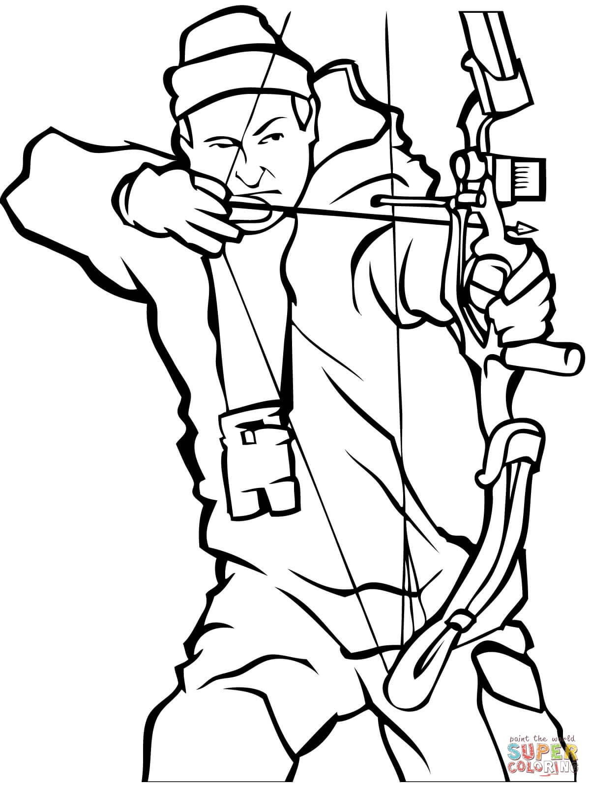 Free Hunting Coloring Pages With Bow Hunting Page  Coloring For