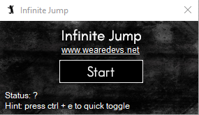 Infinite Jump | WeAreDevs Download | Jump | Infinite