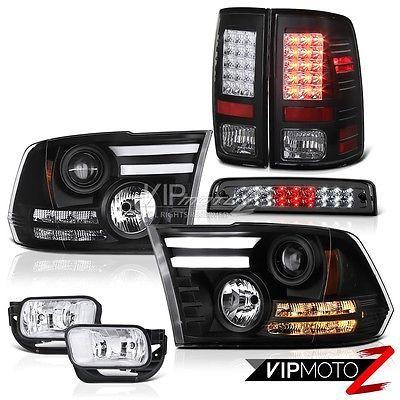 For 94 02 Dodge Ram 1500 2500 3500 Pair Of Black Housing Clear Lens 3d Led U Bar Tail Brake Lights 96 97 98 99 00 01 Led Tail Lights Led Halos Dodge