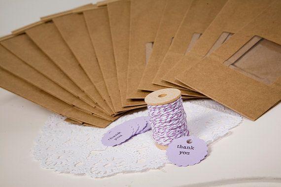Purple Favor Bag Kit by ThePaperedNest on Etsy, $7.95