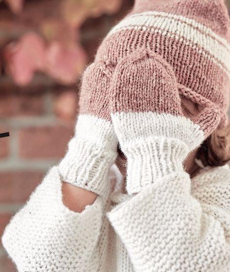 Mütze und Handschuhe für Kinder: Anleitung zum Stricken