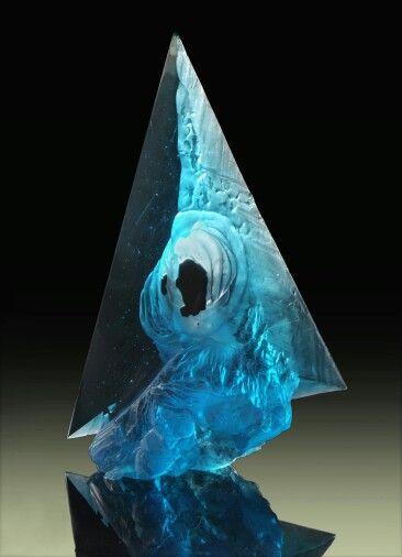 Petr STACHO-Whirlpool (2009) - cast glass, 50x35x15cm