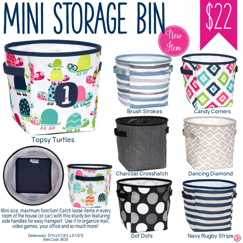 Oh snap bin ideas - Thirty One Mini Storage Bin Spring Summer 2017