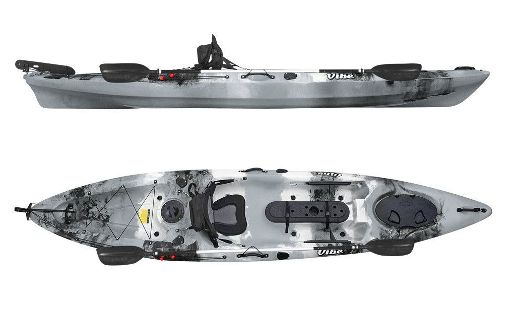 Vibe kayaks sea ghost 130 angler kayak with its extra wide for Wide fishing kayak