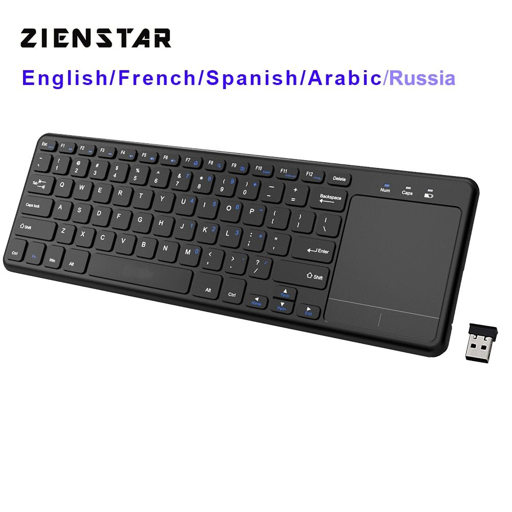Cheap Offer Of Zienstar2 4ghz Touchpad Wireless Keyboard For Windows Pclaptopios Padsmart Tvhtpc Iptvandroid Boxenglish Ru Htpc Keyboard With Touchpad Keyboard
