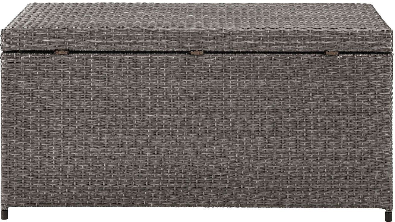 Crosley Furniture Palm Harbor Outdoor Wicker Storage Bin Grey Read More At The Image Link It Is An A In 2020 Wicker Storage Bins Outdoor Wicker Crosley Furniture