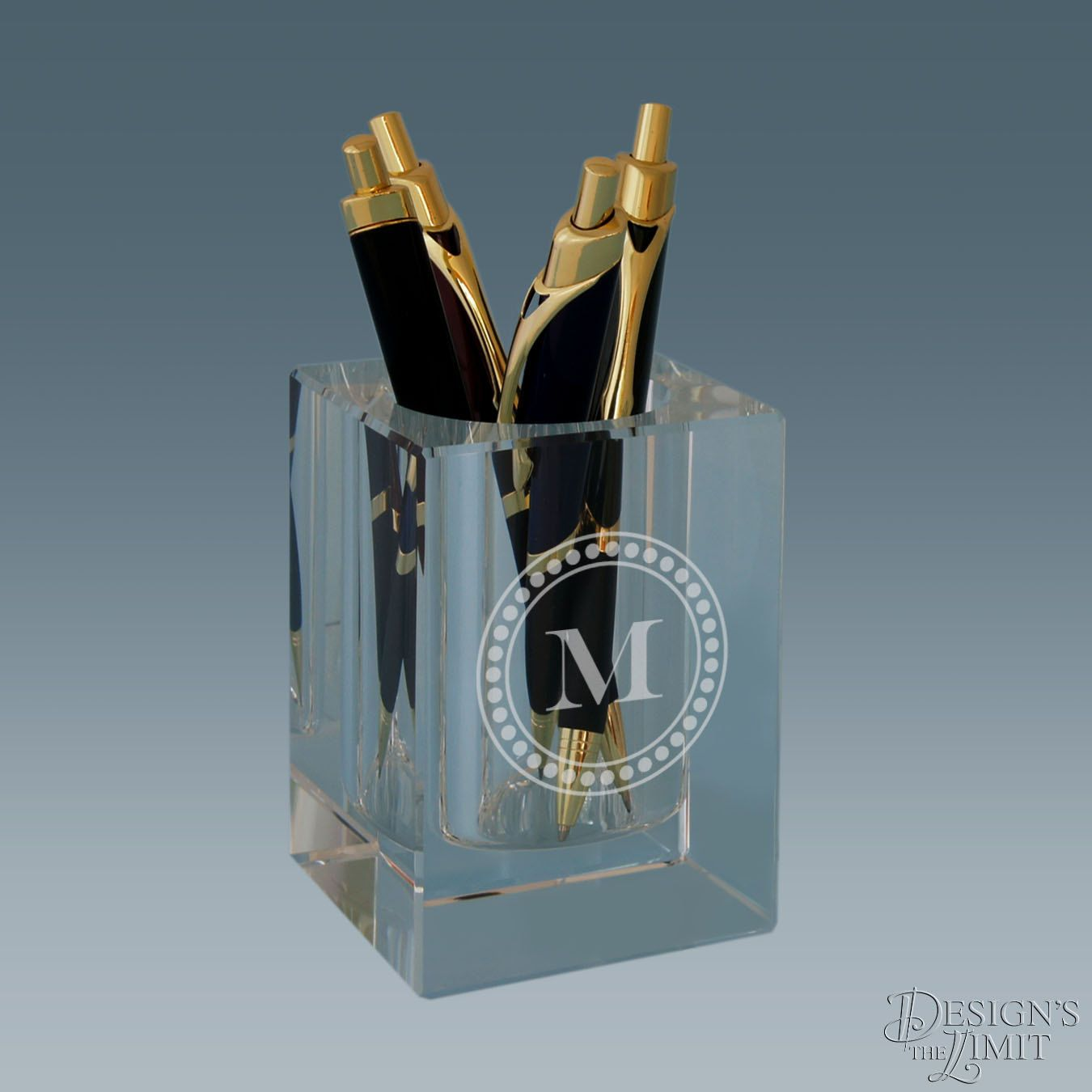 Pen Holder Design Personalized Crystal Pen And Pencil Holder Engraved With