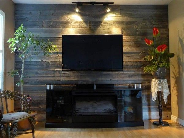 Incredible And Modern Diy Wood Pallet Wall That You Will Love The Art In Life Pallet Accent Wall Wood Pallet Wall Decor Wood Accent Wall