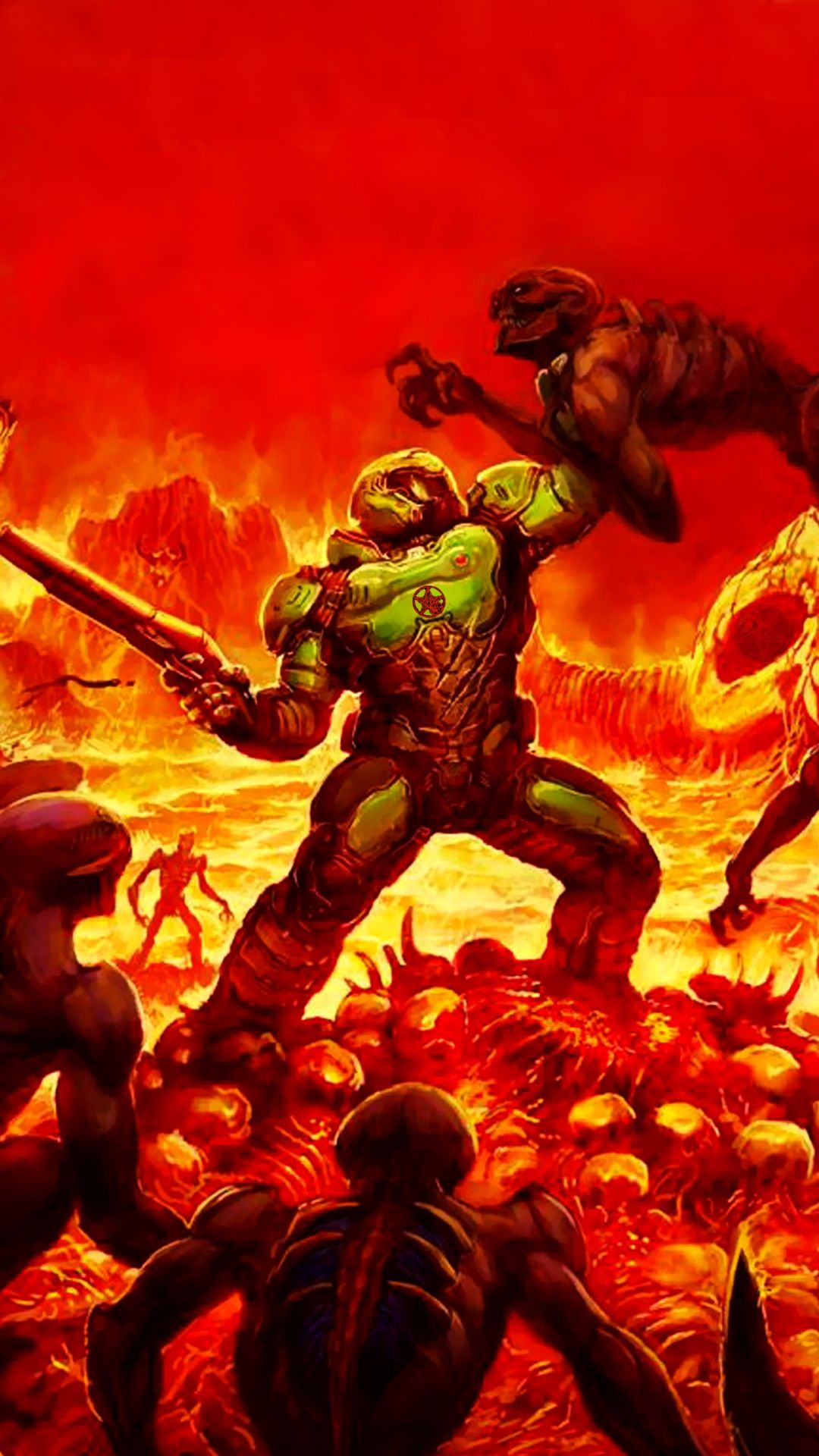 DOOM WALLPAPER Wallpaperize in 2020 Dark wallpaper
