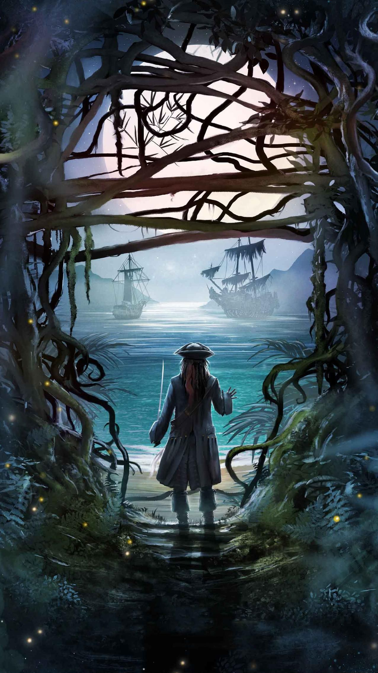 Pirates Of The Caribbean Dead Men Tell No Tales 2017 Phone Wallpaper Moviemania Pirates Of The Caribbean Caribbean Art Jack Sparrow Wallpaper
