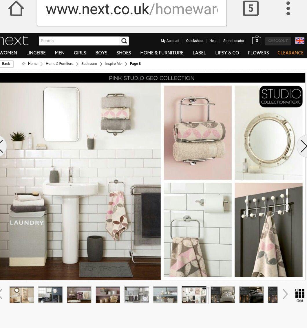 Bathroom inapiration #next towels, bathmat, accessories | Bathroom ...
