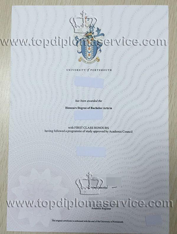 University of Portsmouth degree, buy fake UK Uni certificate http - first class degree