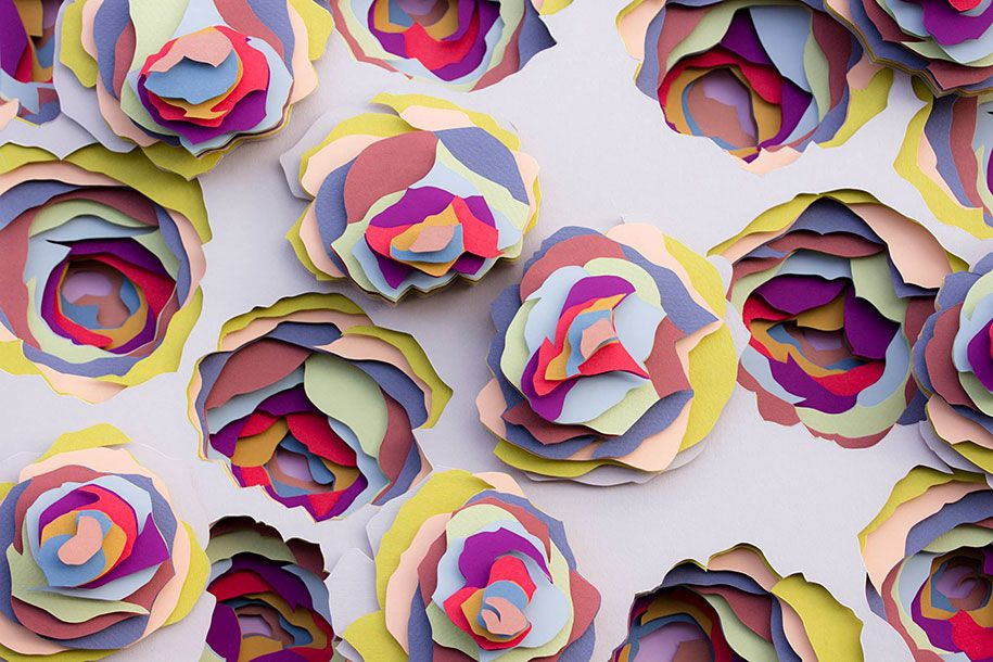 Young parisian artist and designer maud vantours loves working with maud vantours paper flower art adore to adorn mightylinksfo