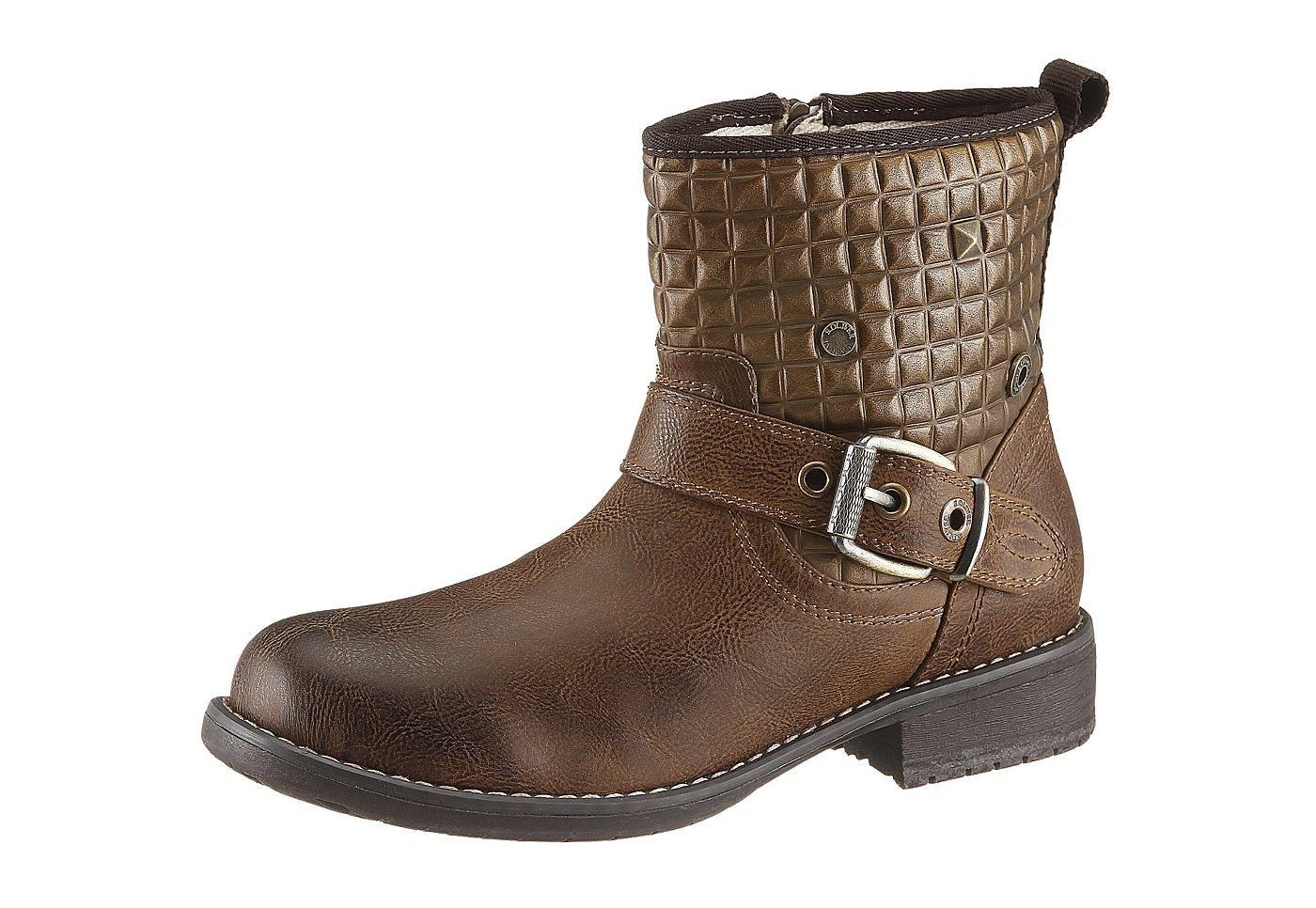 Boots, s. Oliver, Synthetik, Futter: Warmfutter, Decksohle aus Warmfutter, Synthetik-Laufsohle, 30 mm Absatz, Schuhweite: F (normal), Reißverschluss....