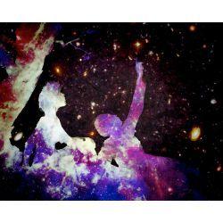 cute couple art tumblr galaxy space purple stars lovely