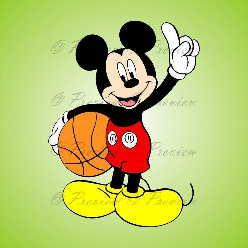 Cartoon Characters Playing Basketball