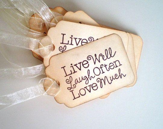 Wedding Favor Live Laugh Love