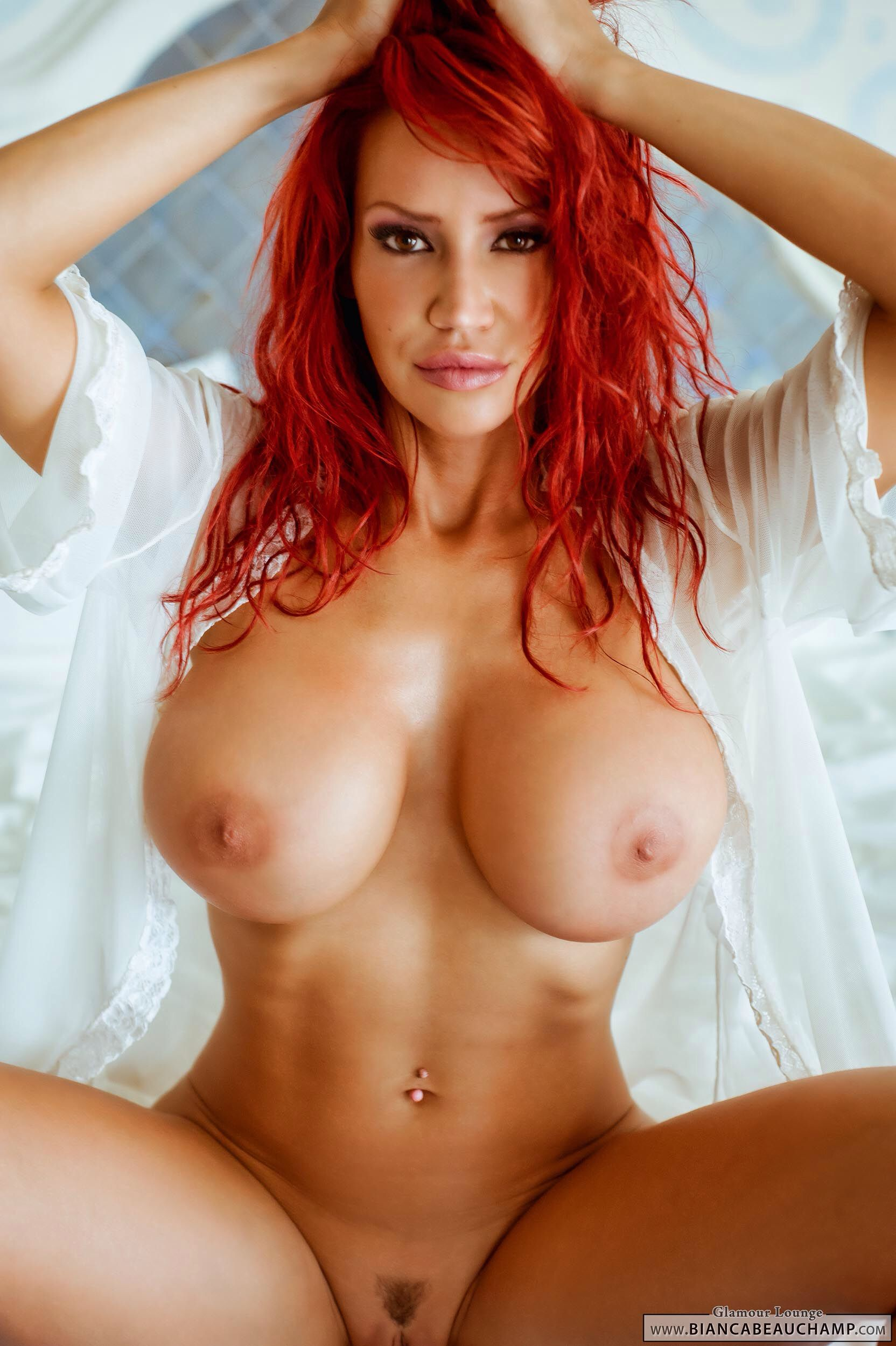 Hot Sexy Nude Women Redhead - Sexy redhead porn star Bianca Beauchamp naked on bed gallery