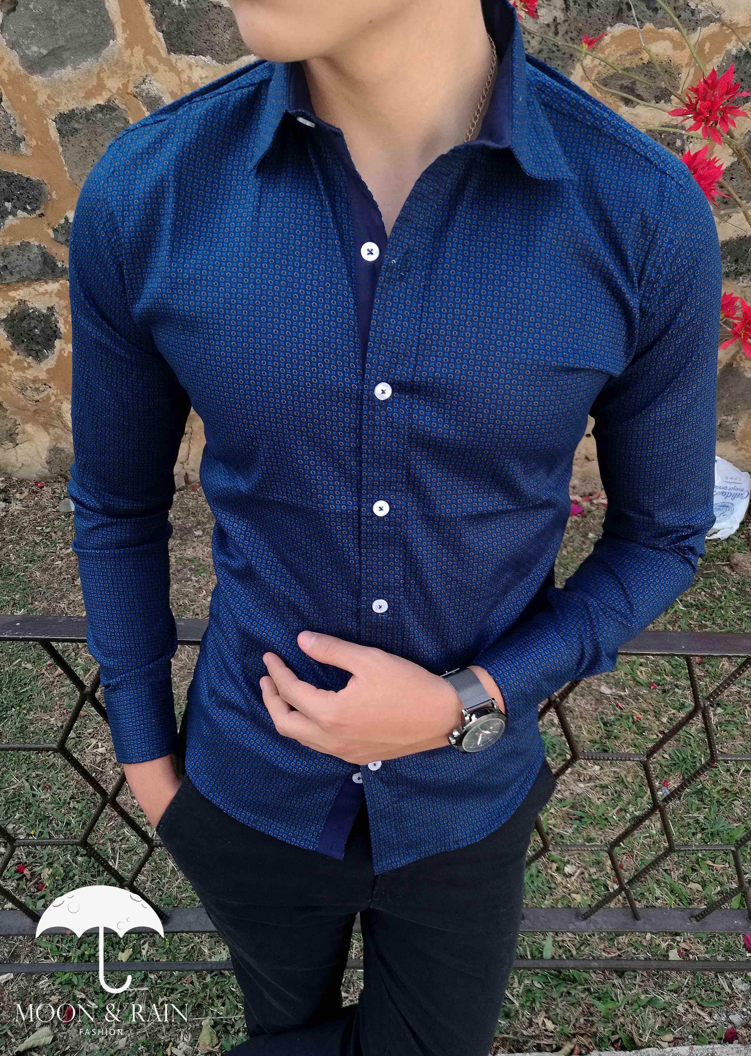 9305c5de59 Diseños de camisas de lujo para hombre en México y el mundo! Marca Moon    Rain